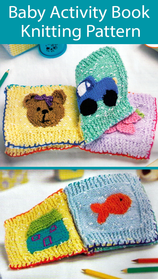 Knitting Pattern for Baby Activity Book