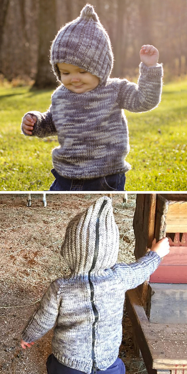 807c42b0f0e7b4 Little One Hoodie Knitting Patterns - In the Loop Knitting