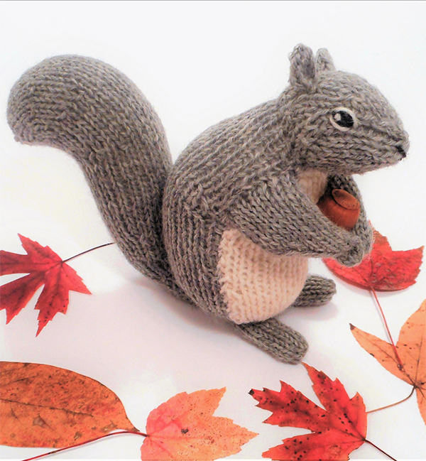 Knitting Pattern for Backyard Squirrel