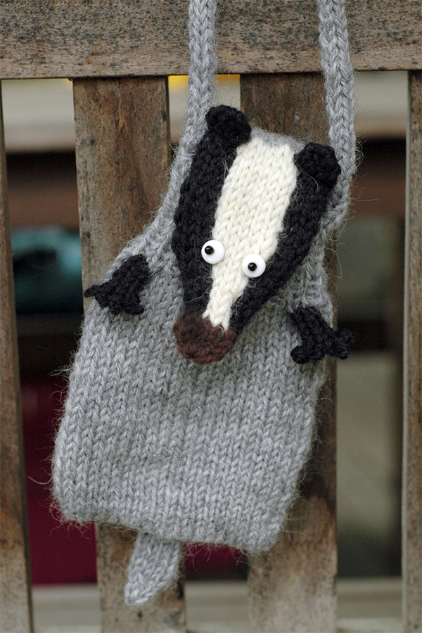 Free Knitting Pattern for Badger Purse