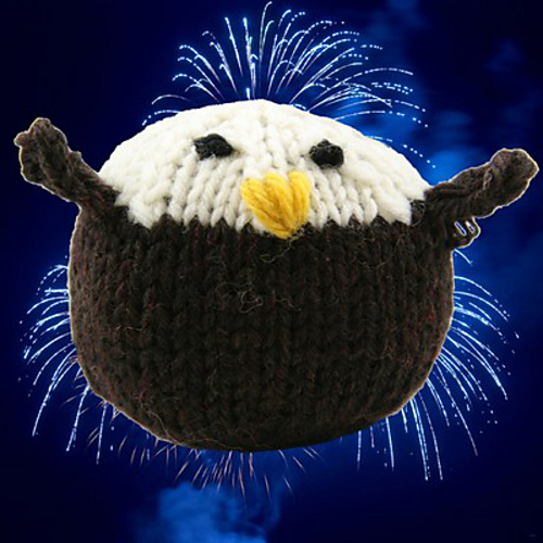 Free Knitting Pattern for Bald Eagle Toy