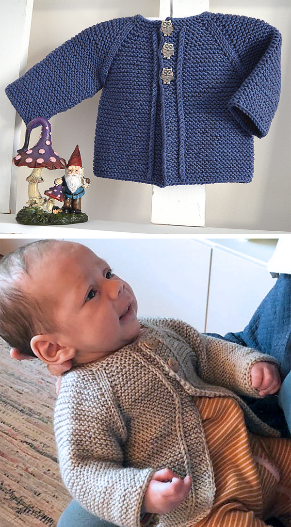 Knitting Pattern for Easy Balina Baby Cardigan