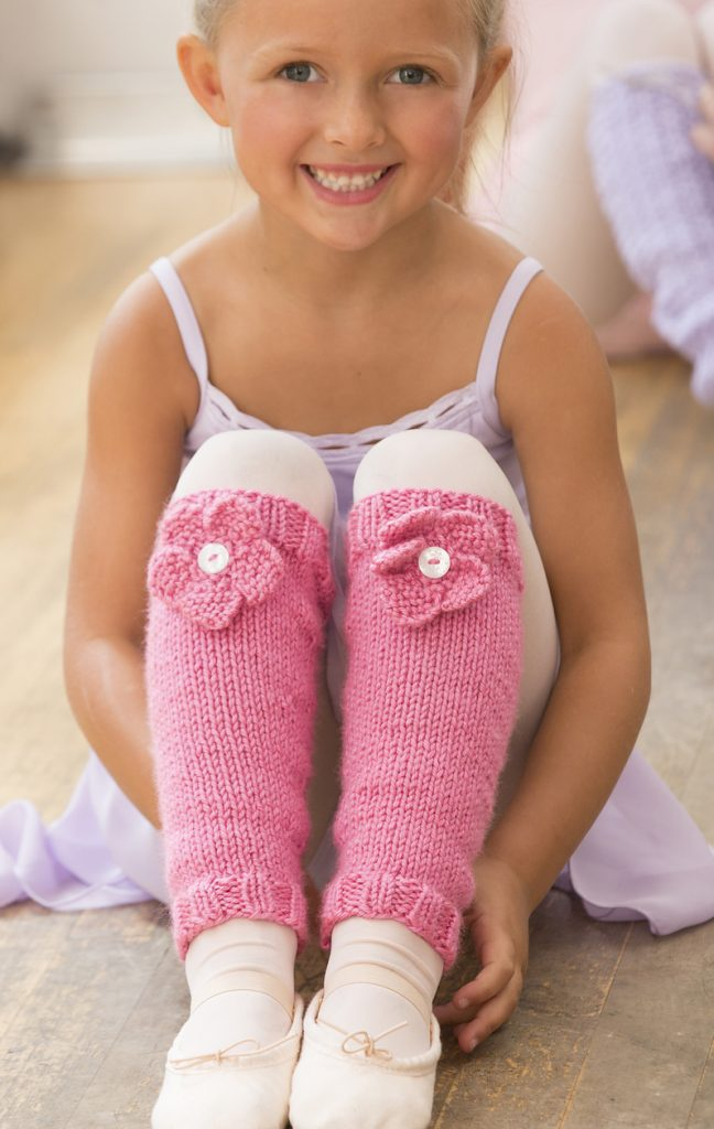 Free Knitting Pattern for Ballerina Bloom Leg Warmers