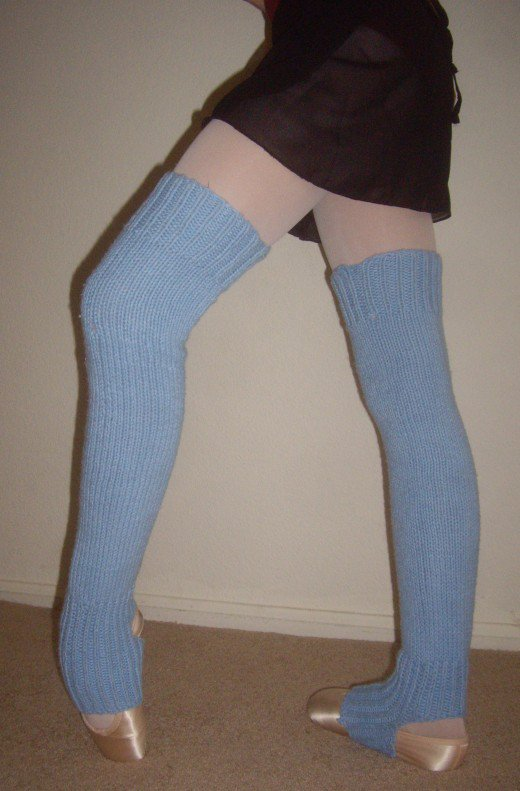 Free Knitting Pattern for Pointe Work Legwarmers