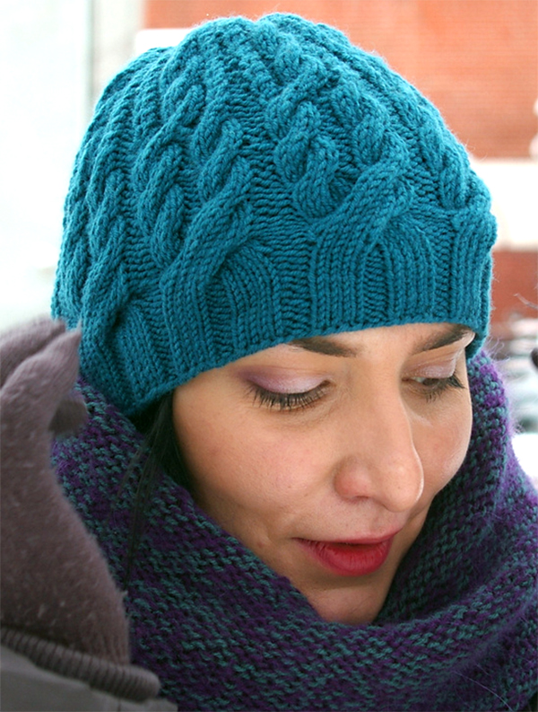Free Knitting Pattern for Balta Beanie Knit Flat