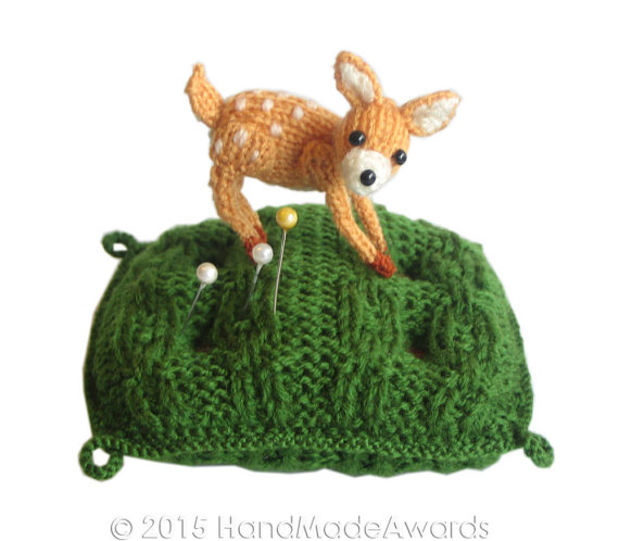 Free knitting pattern for Bambi Pin cushion