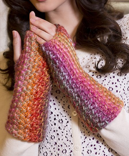 Free knitting pattern for Bamboo Stitch Wristers