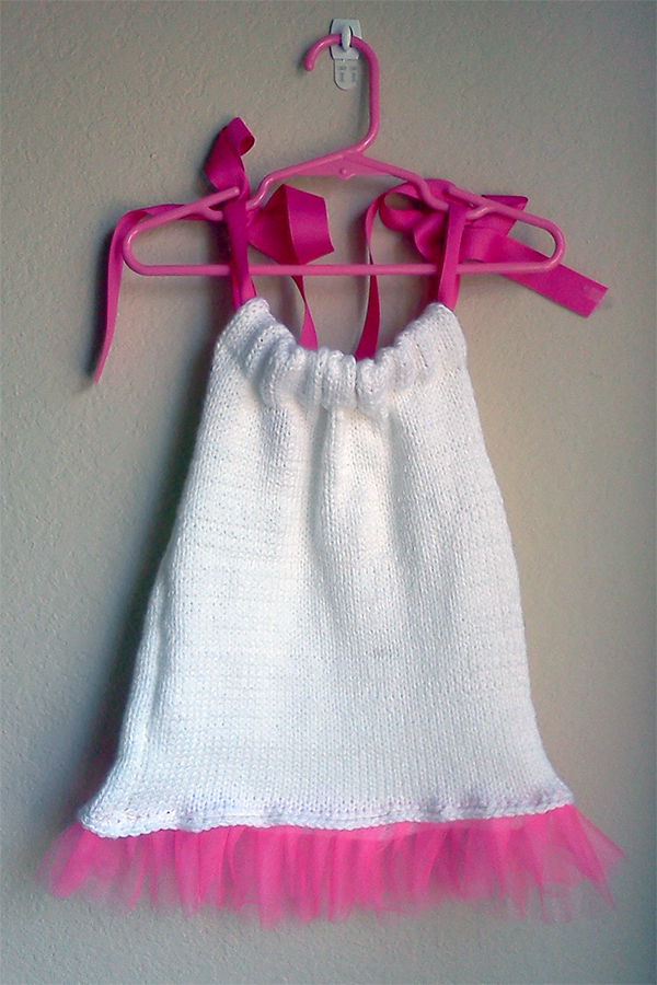 Knit and Sew Pattern for Bandanna Baby Dress