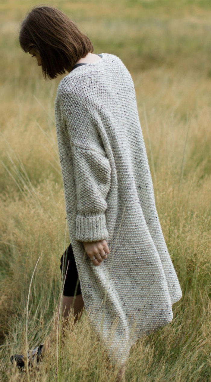 Knitting Pattern for Easy Banff Cardigan
