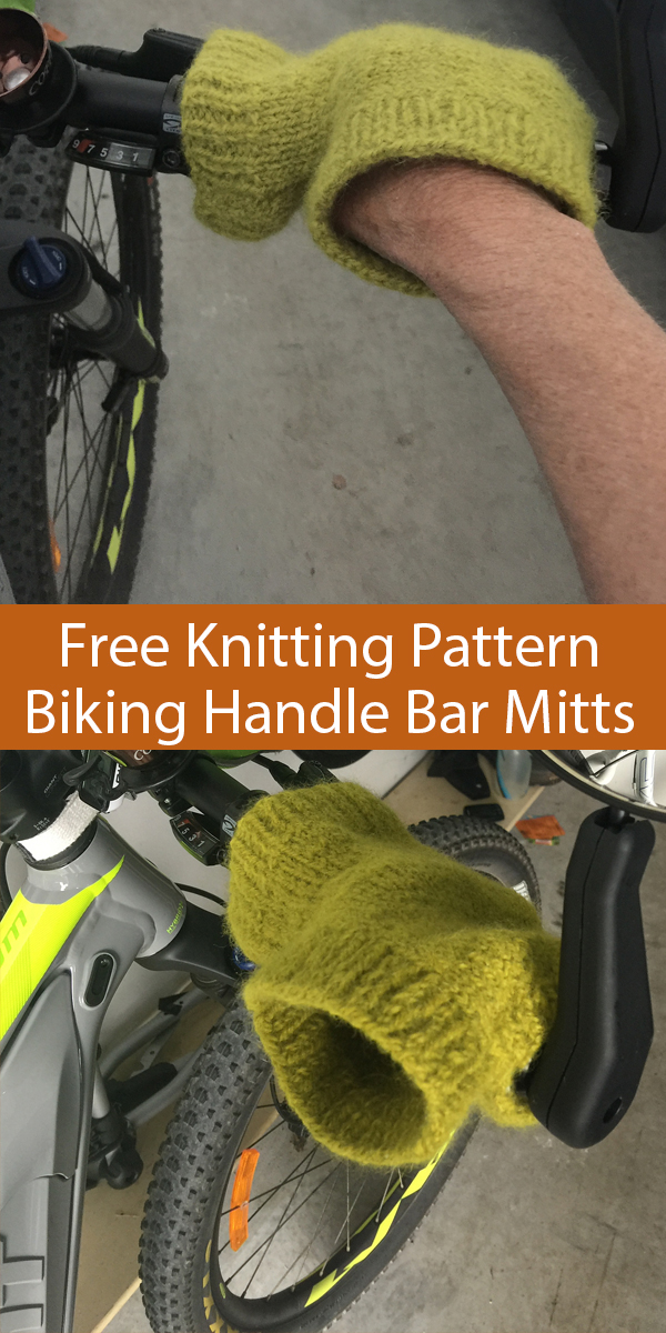 Free Knitting Pattern for Bike Handle Bar Mitts