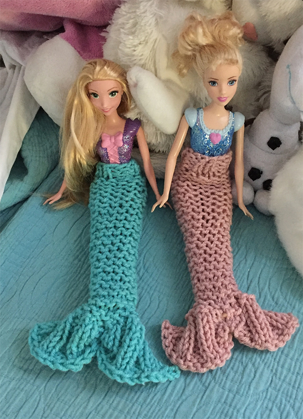 Free Knitting Pattern for Barbie Mermaid Tail