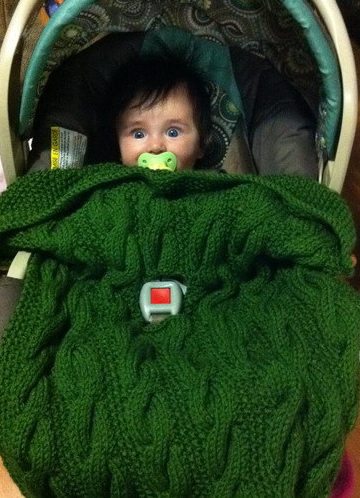Knitting Pattern for Barden Car Seat Baby Blanket
