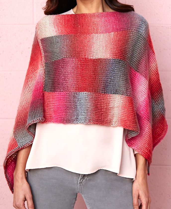 Free Knitting Pattern for Bargello Poncho