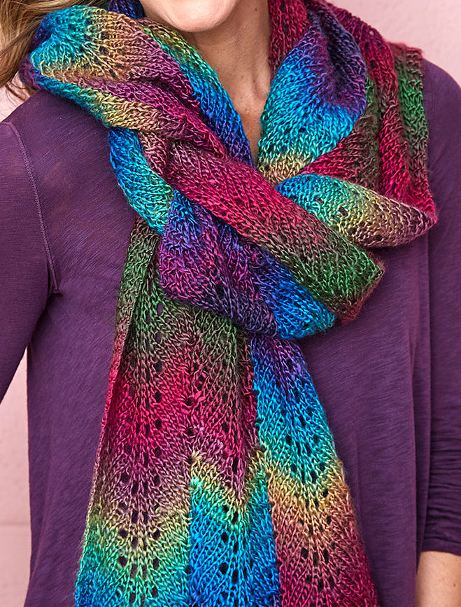 Free Knitting Pattern for Bargello Scarf