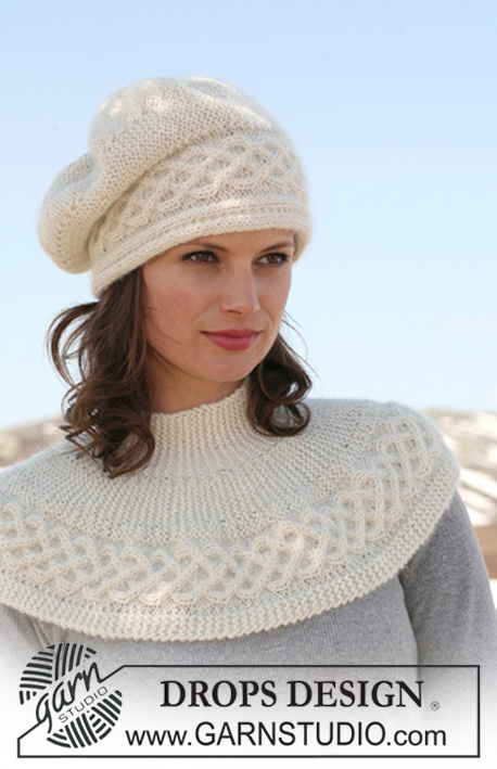 69567570b9a Basque Hat slouchy hat free knitting pattern with cable brim and more free  slouchy hat knitting
