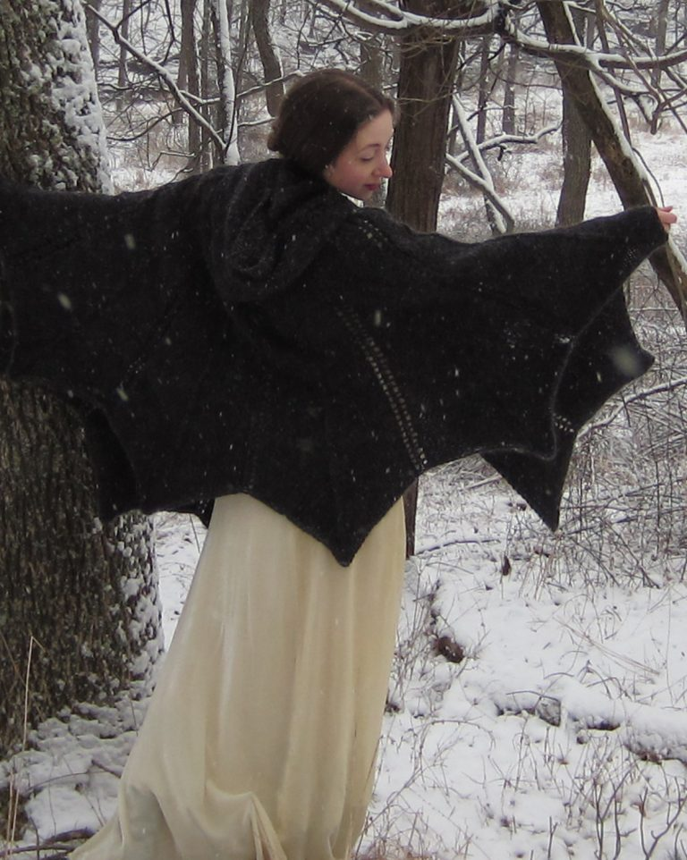 Knitting Pattern for Bat Cape