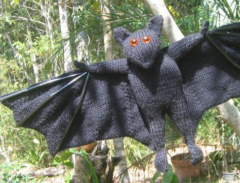 Knitting Pattern for Bat Toy