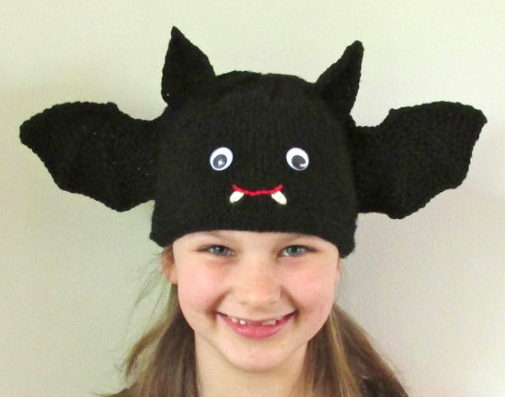 Knitting Pattern for Bat and Spider Hats