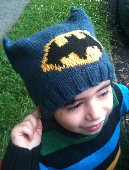 Batman Hat Knitting Pattern
