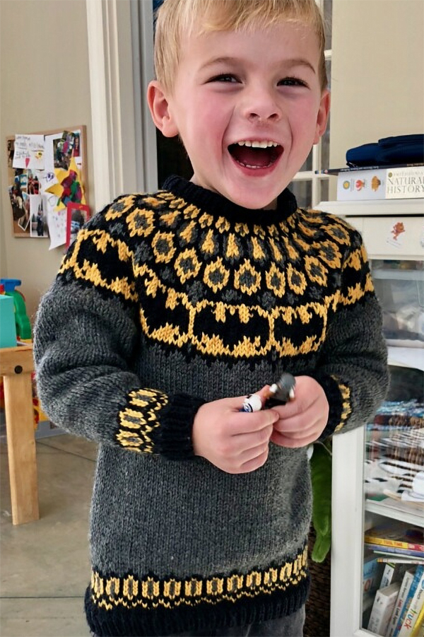 Free Knitting Pattern for Batman Sweater