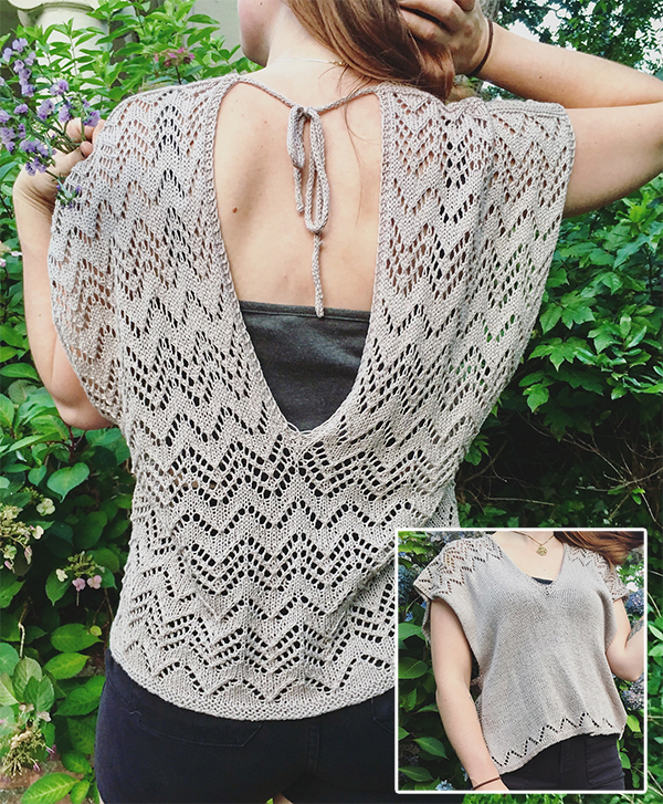 Free knitting pattern for Bauxite Top
