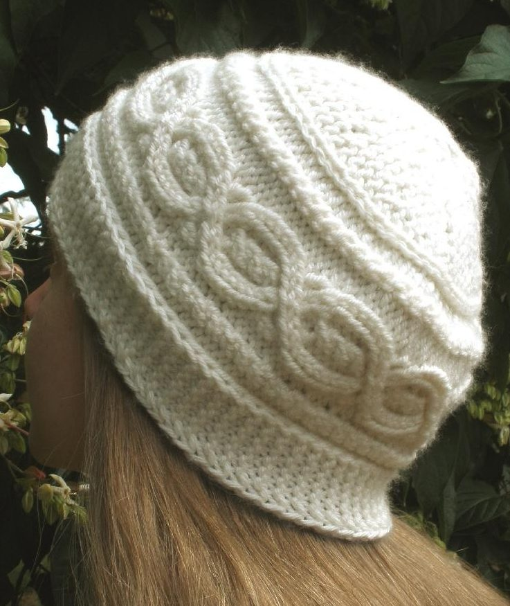 Knitting Pattern for Bavarian Twist Hat Knit Flat