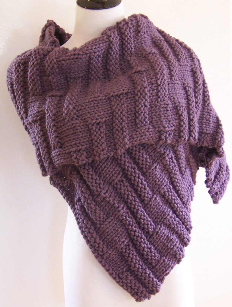 Knitting Pattern for Bayberry Wrap