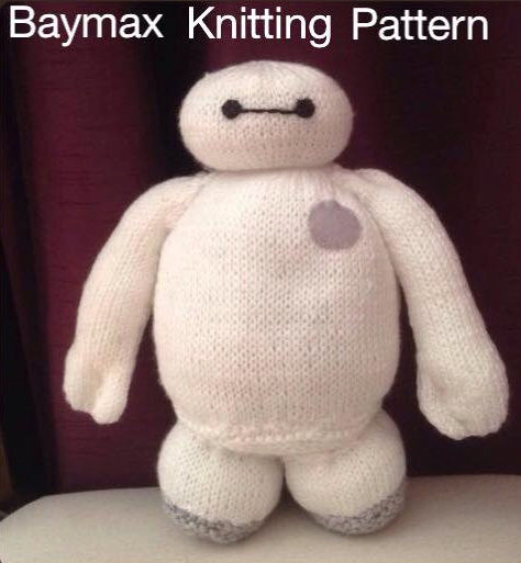 Knitting Pattern for Baymax Toy from Big Hero 6
