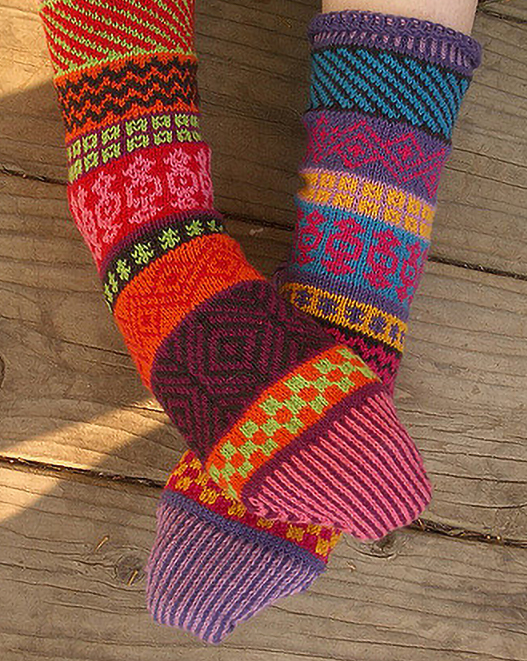 Knitting Pattern for Bazaar Socks