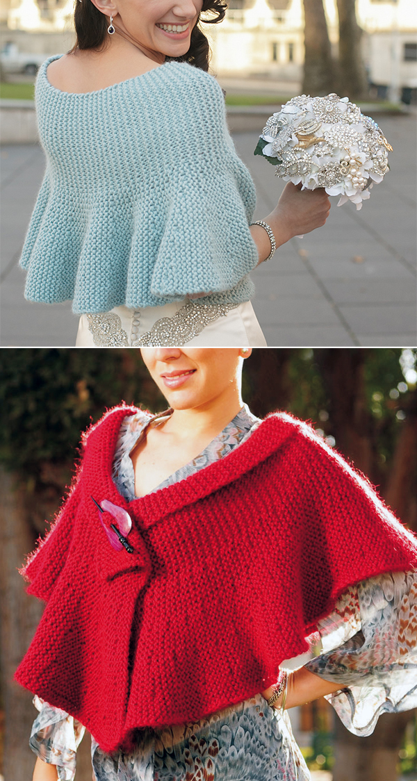Free Knitting Pattern for Ruffle Wrap