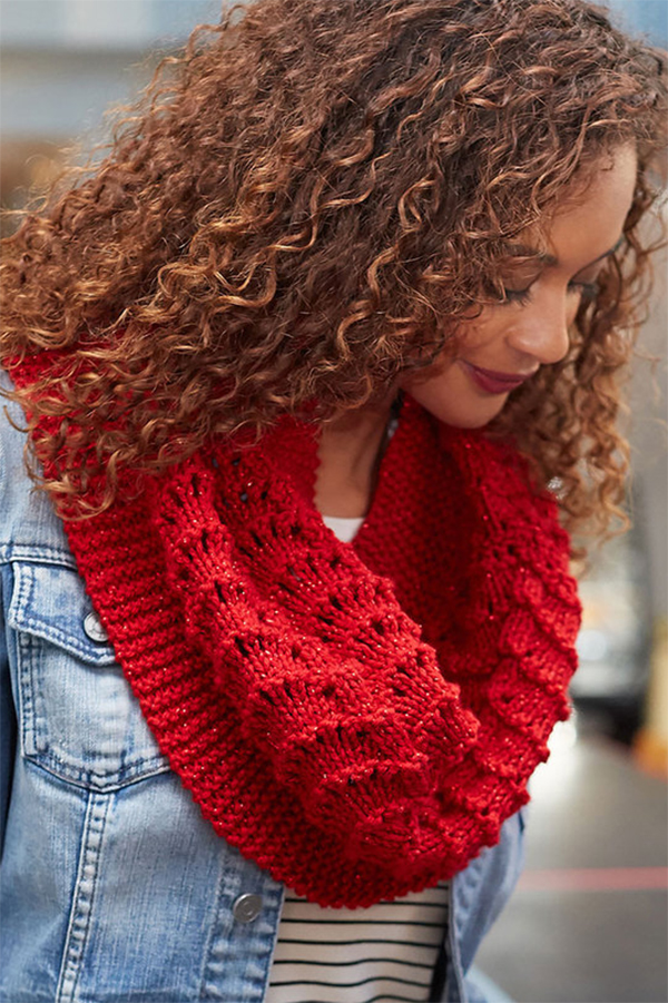 Free Knitting Pattern for Easy 6 Row Be True Cowl
