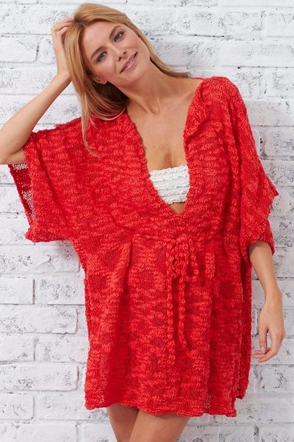 Free knitting pattern for Beach Cover Up