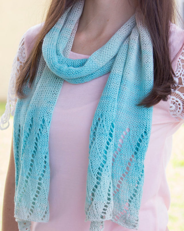 Knitting Pattern for Beach Scarf
