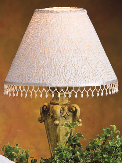 Knitting Pattern for Beaded Lace Lampshade