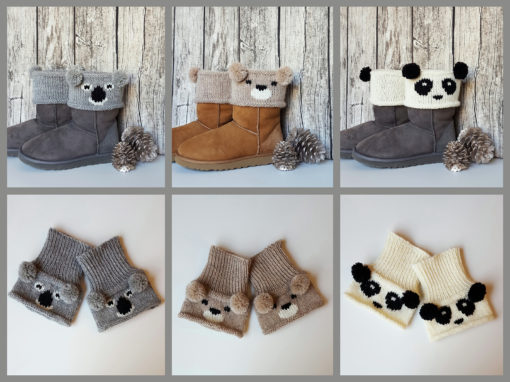Knitting Patterns for Bear Boot Toppers