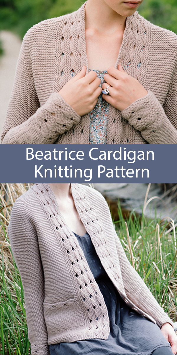Knitting Pattern for Beatrice Cardigan
