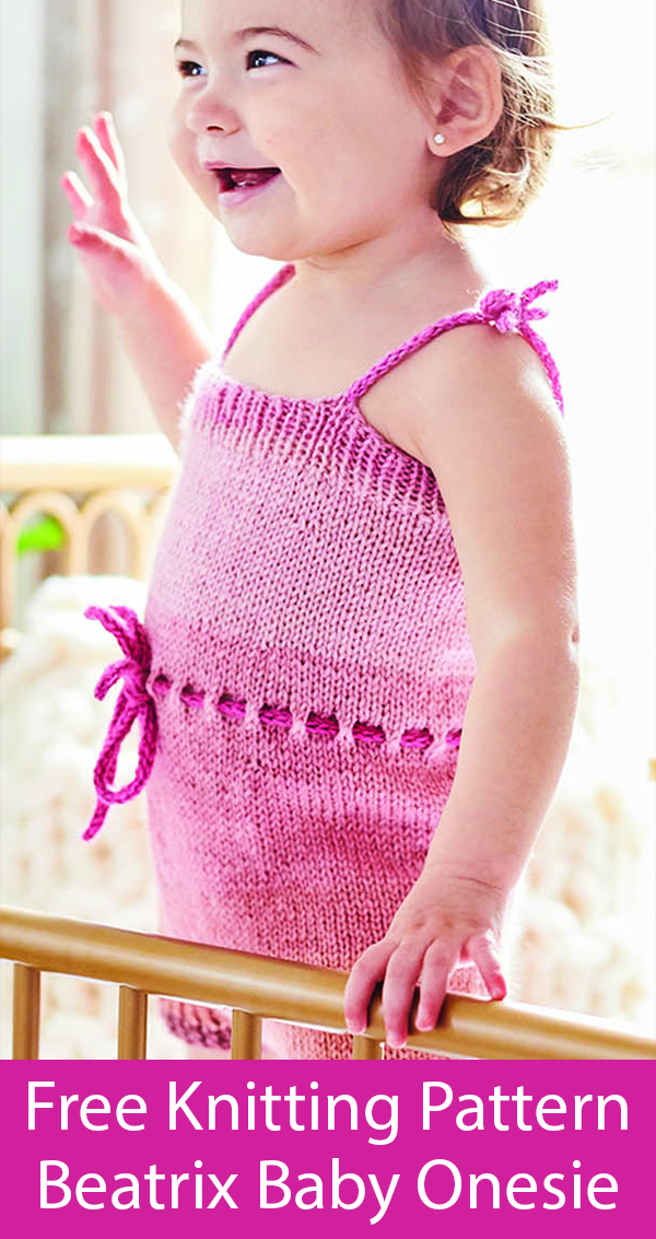 Free Knitting Pattern for Beatrix Onesie