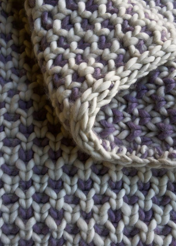 Free Knitting Pattern for Beautyberry Throw