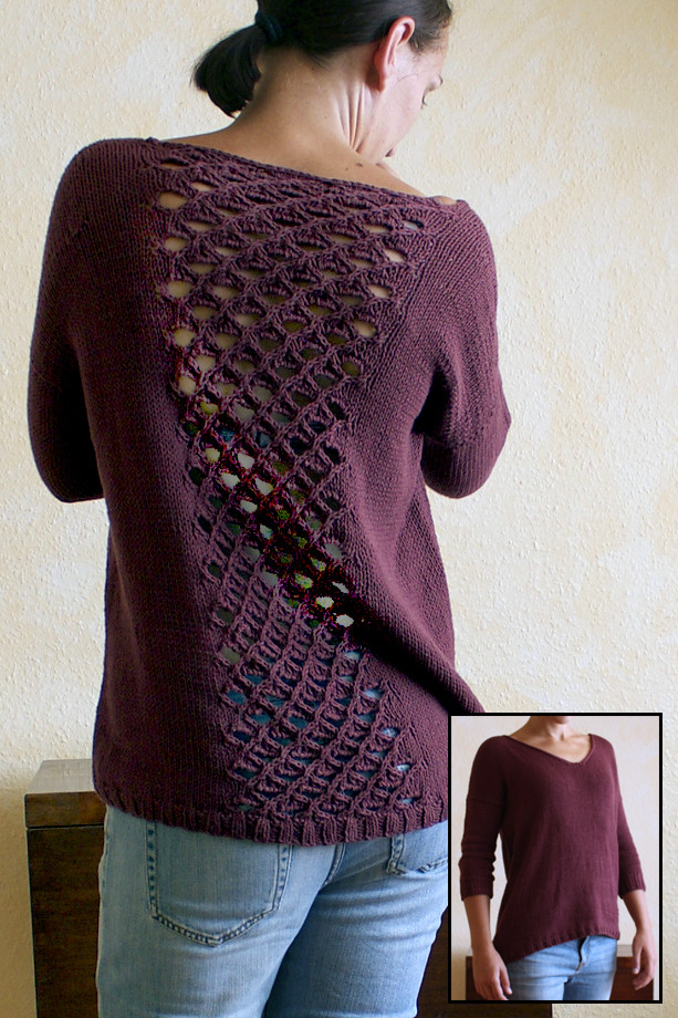 Free knitting pattern for Beetroot Salad Sweater