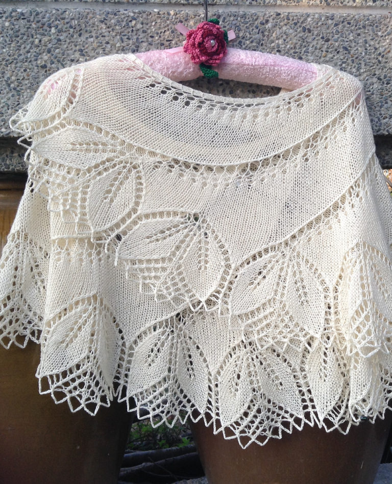 Free Knitting Pattern for Begonia Swirl Shawl