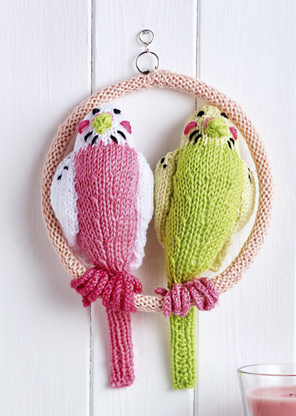 Free Knitting Pattern for Bella and Basil Budgies