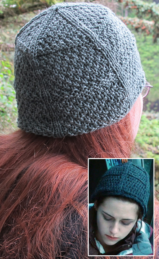Free Knitting Pattern for Twilight - Bella La Push Hat