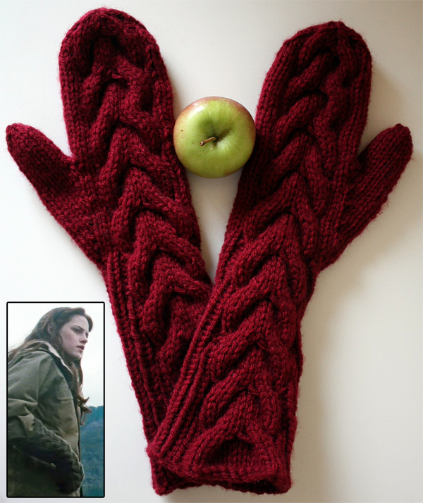 Free Knitting Pattern for Twilight - Bella's Mittens