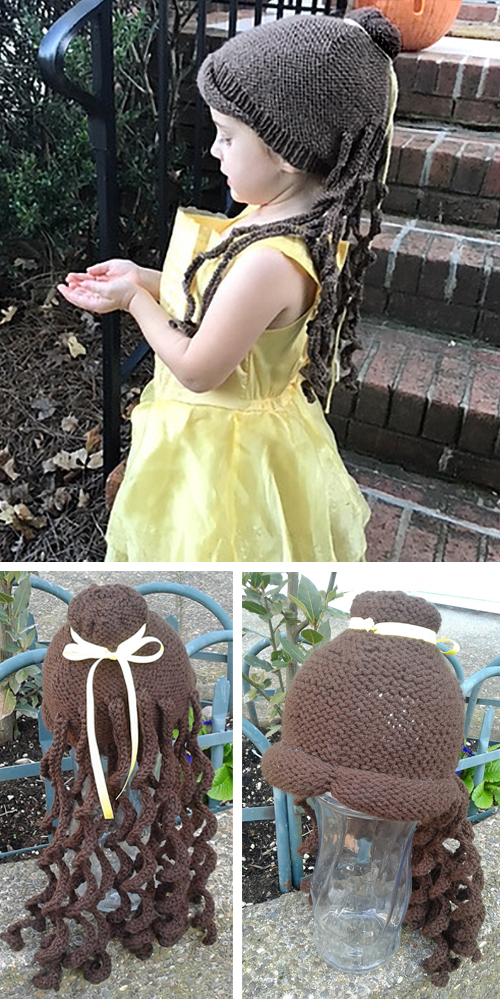 Free Knitting Pattern for Belle Wig