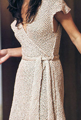Free Knitting Pattern for Wrap Dress or Tunic