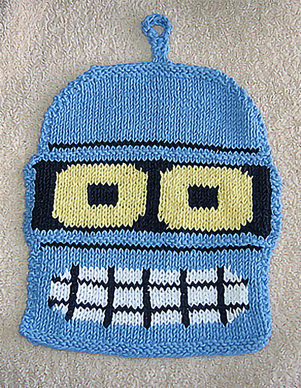 Free knitting pattern for Bender Dishcloth
