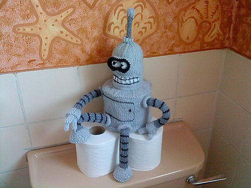 Free knitting pattern for Bender and more movie and tv knitting patterns