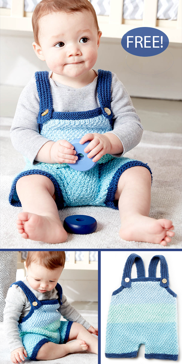 Free Knitting Pattern for 4 Row Baby Romper