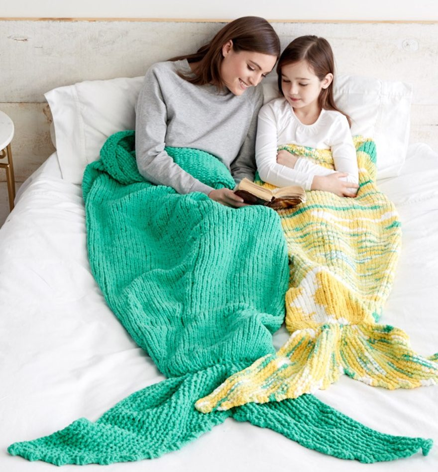 Free Knitting Pattern for Mermaid Snuggle Sack