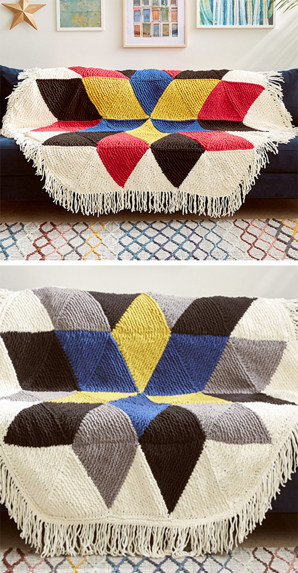 Quilt Baby Blanket and Afghan Knitting Patterns - In the